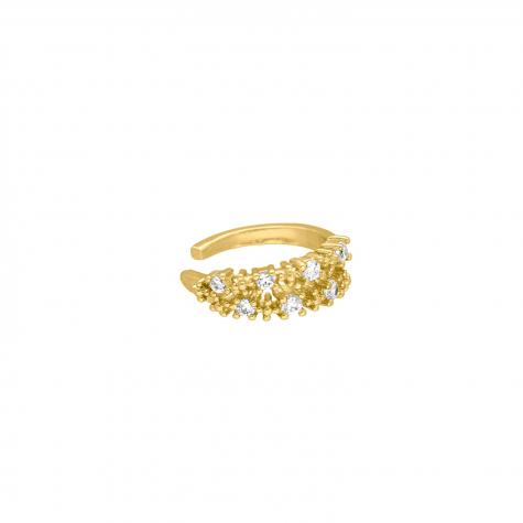Ear cuff met steentjes goud kleurig