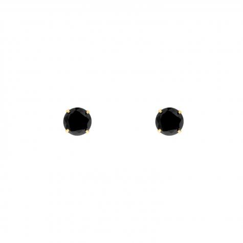 Sparkle Stud Oorbellen Small Zwart-Goud Kleurig
