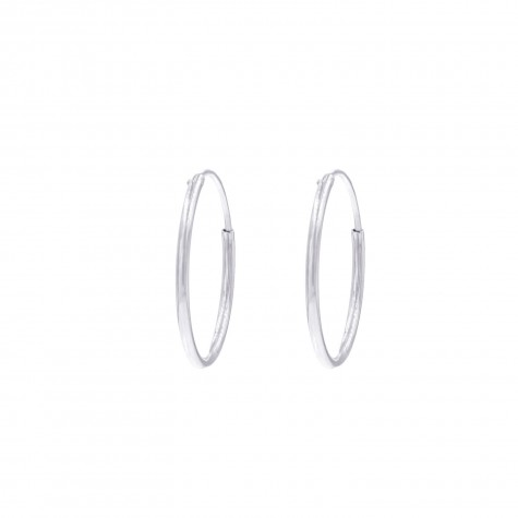 Minimalistische oorringen medium 925 sterling zilver