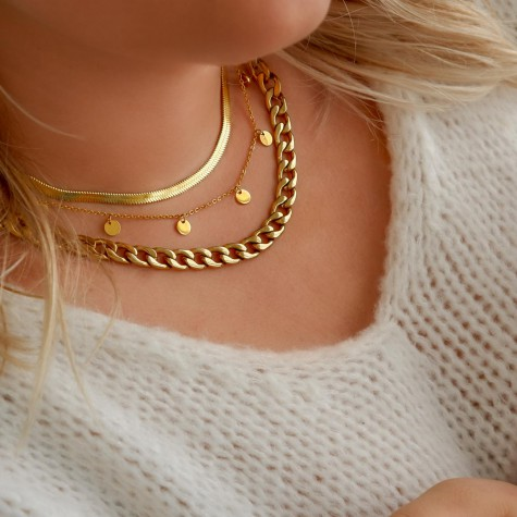 Necklace party kleur goud