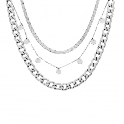 Necklace party kleur zilver