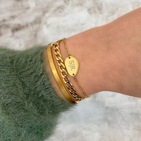 Armparty Graveren Kleur Goud