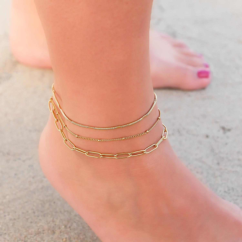 Mooie set van armbandjes van stainless steel