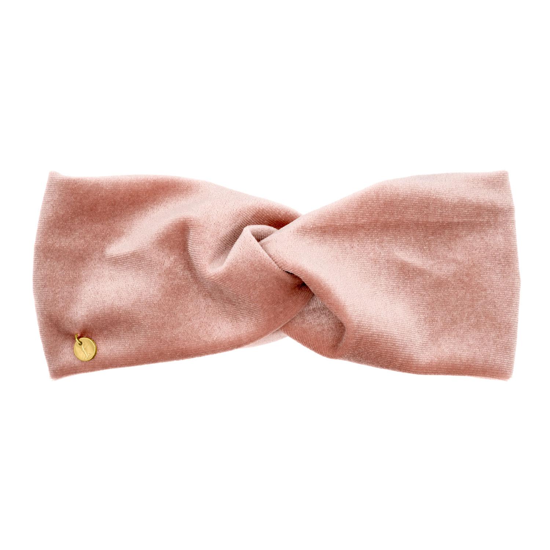 Roze velvet haarband