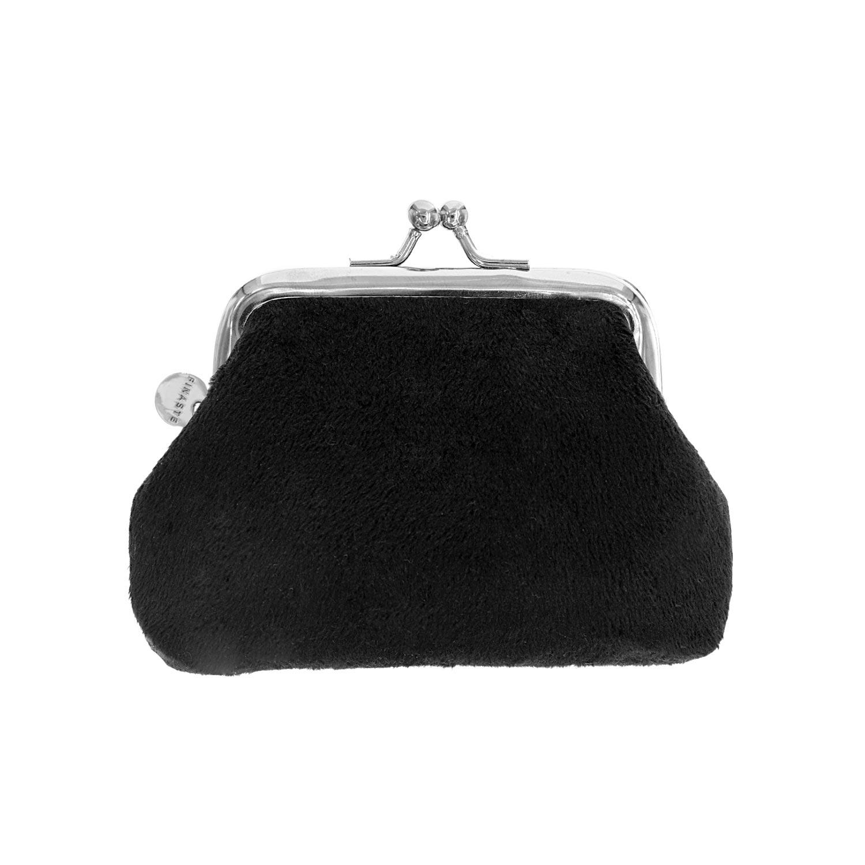 Portemonnee velvet zwart