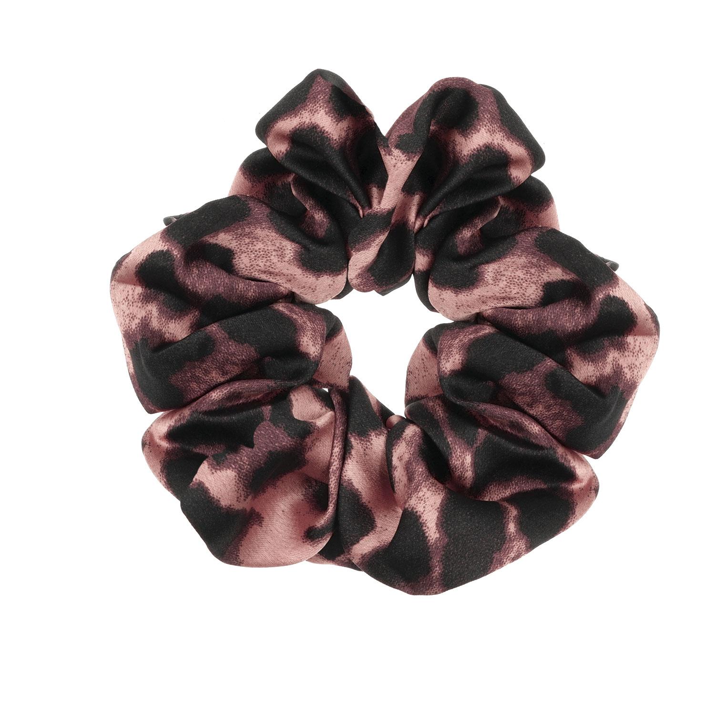 Scrunchie leopard roze