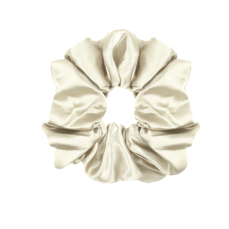 Scrunchie Satijn Wit
