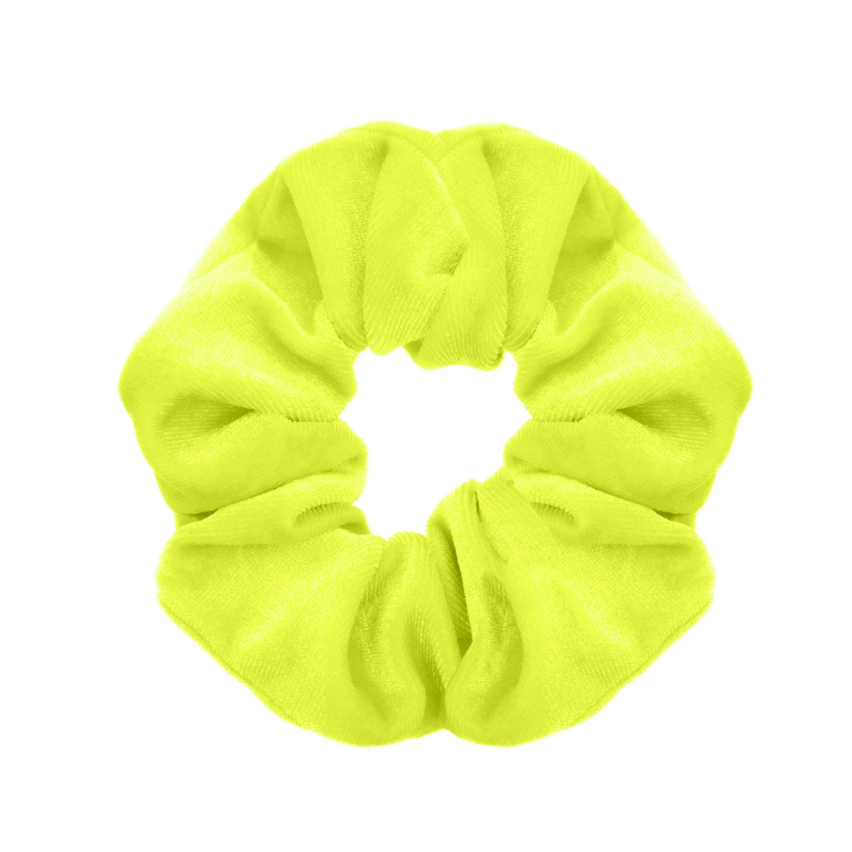 Scrunchie neon geel