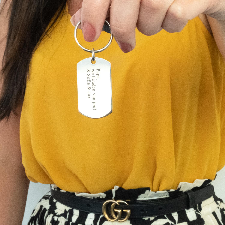 Graveerbare sleutelhanger met tekst voor papa