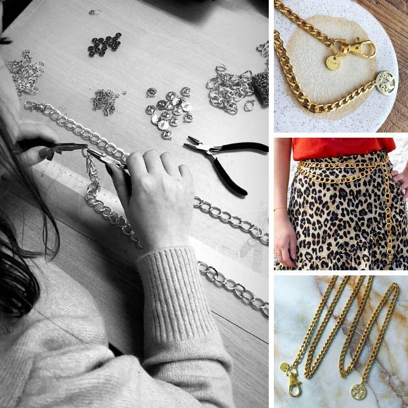 chain belts worden gemaakt in finaste atelier