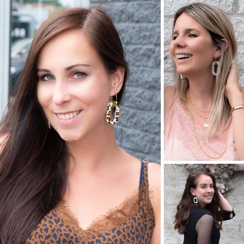 meiden dragen handgemaakte oorbellen van finaste