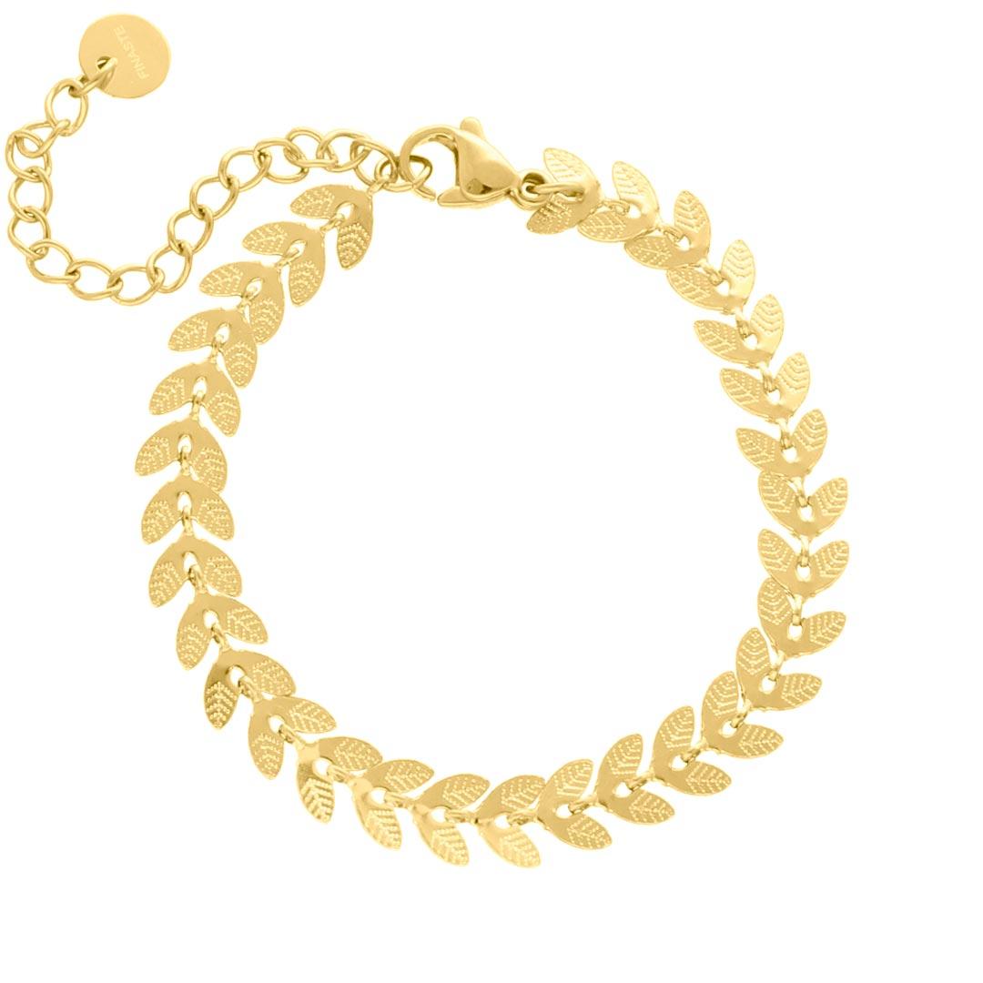 Armband blaadjes goud kleurig