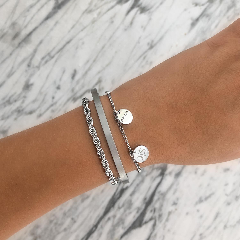 Gepersonaliseerde armband 2 muntjes