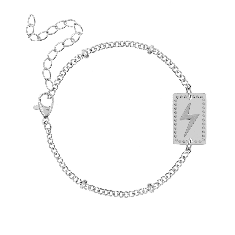 Armband met bedel bliksem
