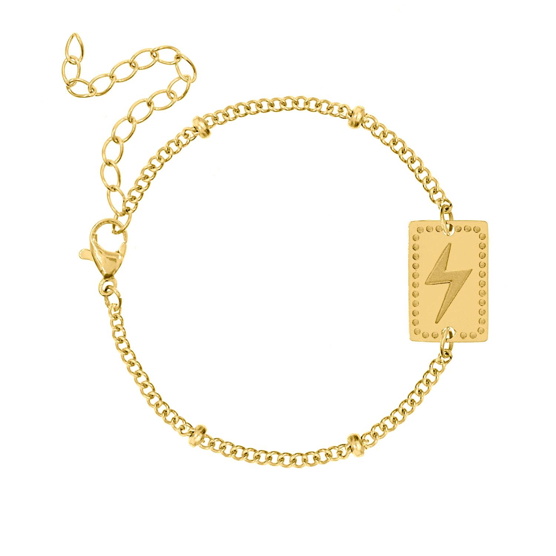 Armband met bedel bliksem goud kleurig