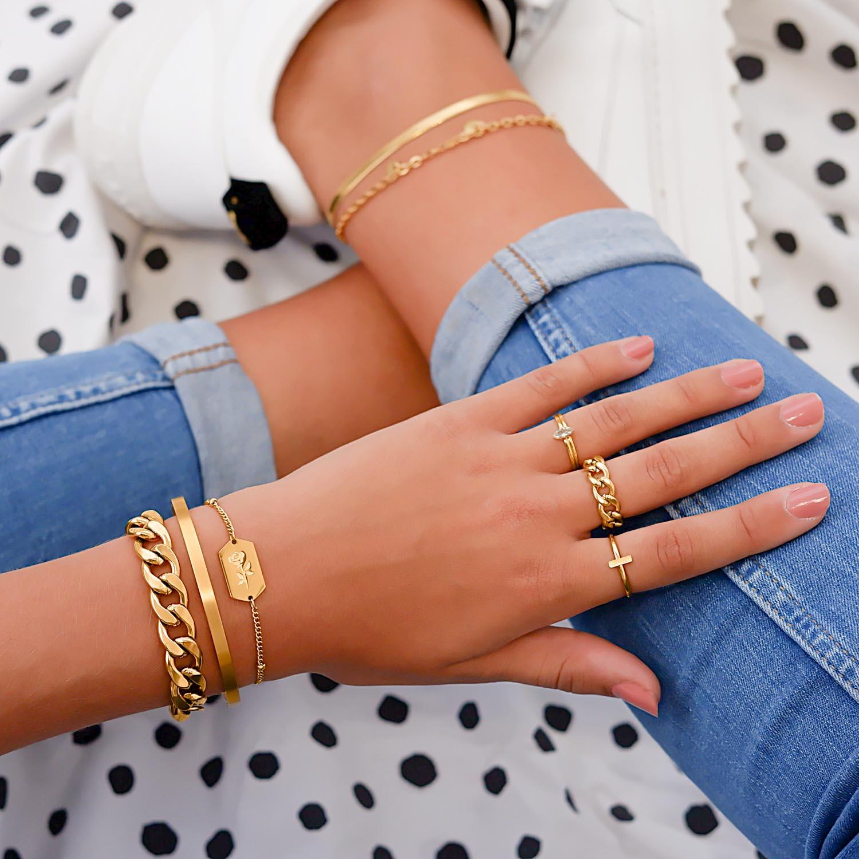 Trendy mix van sieraden voor een trendy look