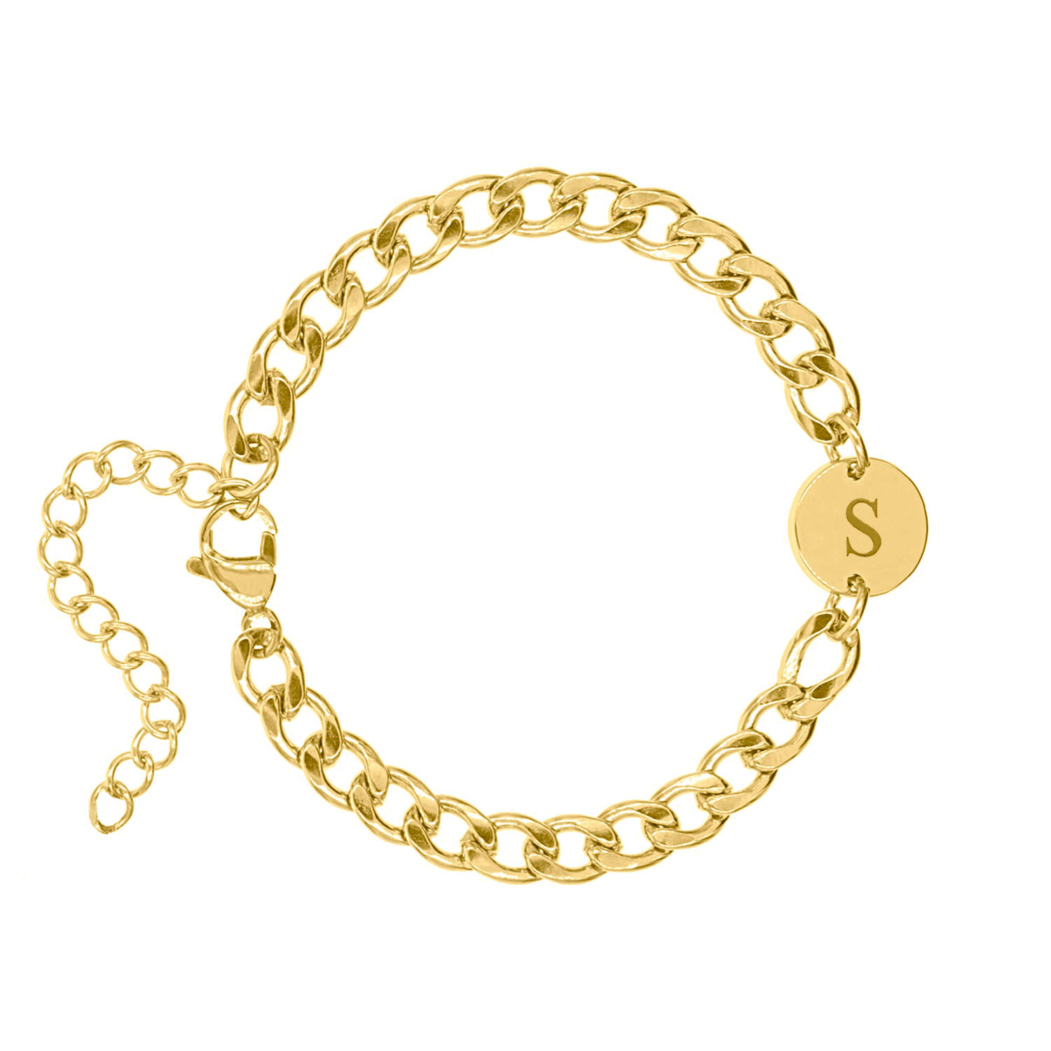 Armband Chunky Initial gold plated