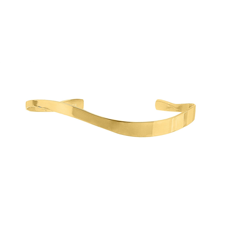 Bangle waves kleur goud