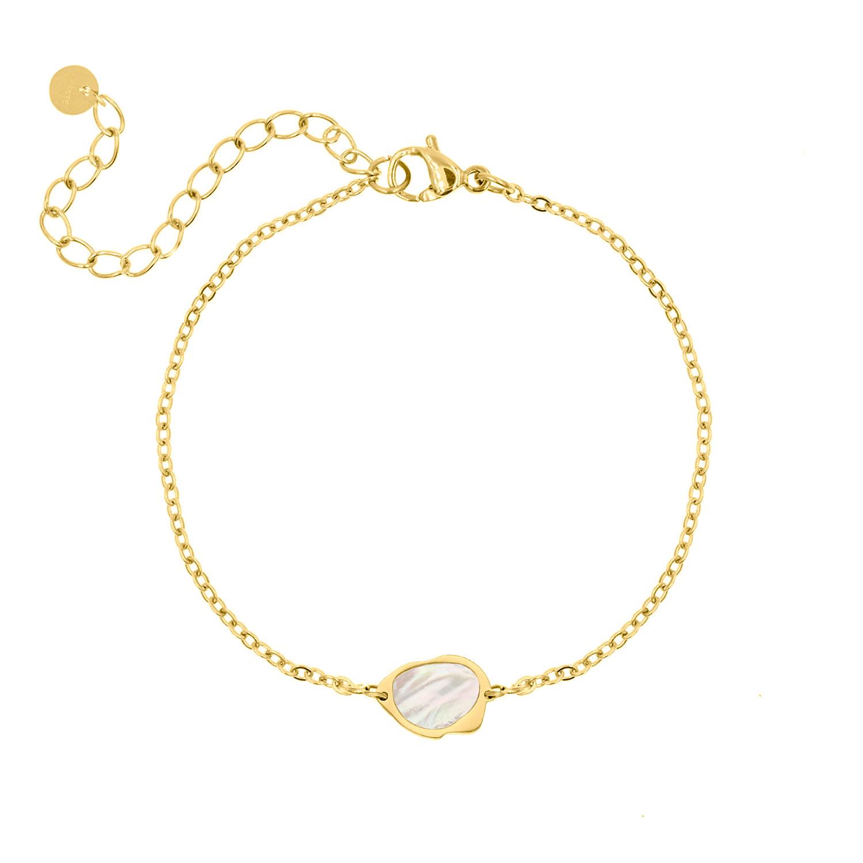Armband parelmoer kleur goud