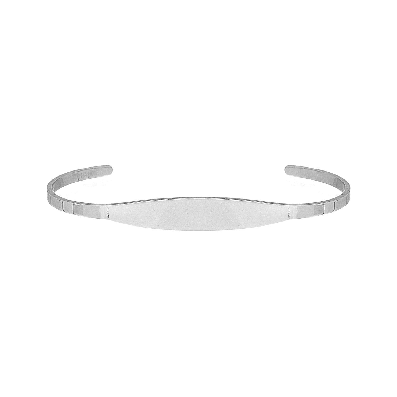 Minimalistische bangle trendy kleur zilver