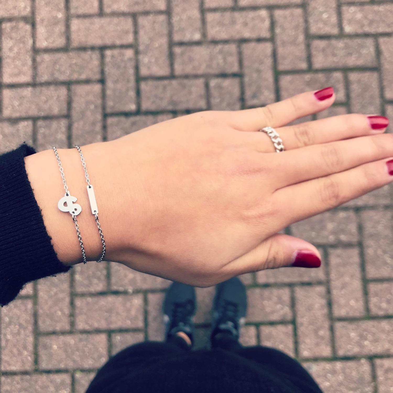 Mix & match armbandjes met ringen zilver