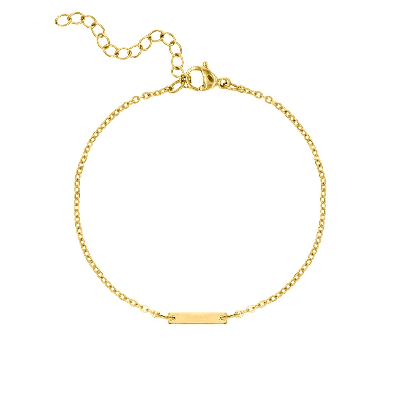 Gouden bar armband