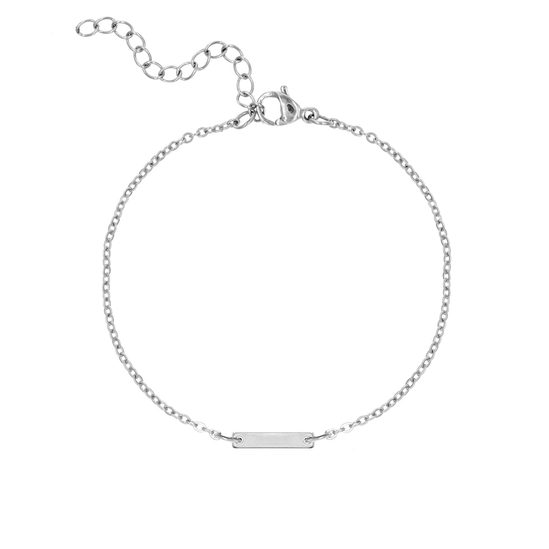Bar armband zilver