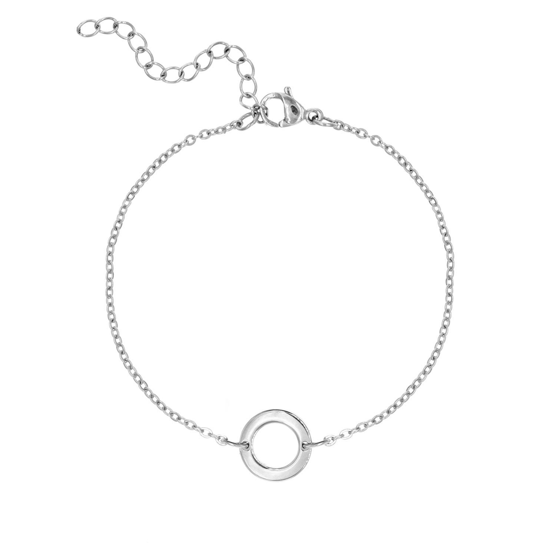 Armbandje met rondje | Zilveren Armbandje Rondje | Finaste