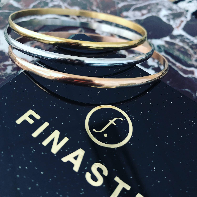 Goud, zilveren en rose gouden bangle