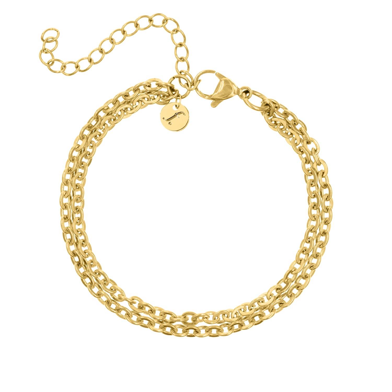 Dubbele schakelarmband van FINASTE in goud