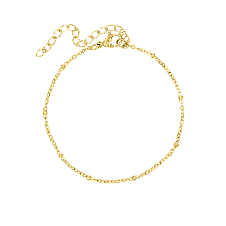 Gouden armband met bolletjes