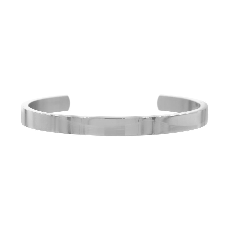 Zilveren open bangle