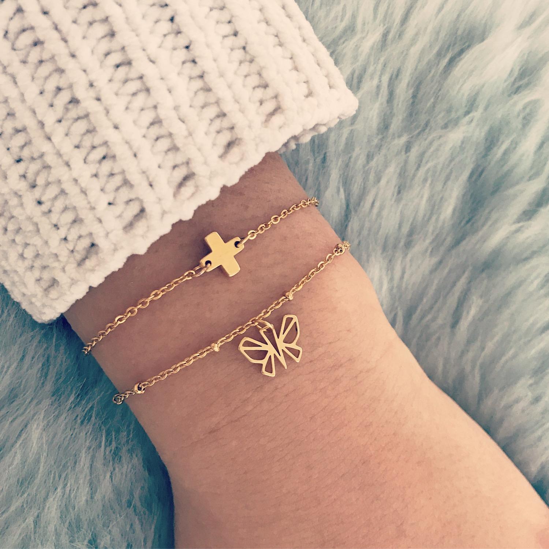 Gouden armband met plus van finaste