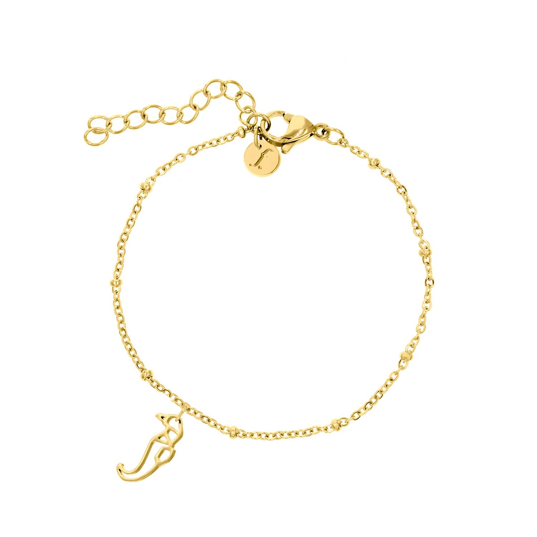 Gouden armband met origami zeepaardje