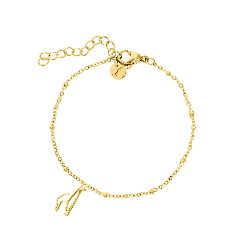 Gouden armband met origami alpaca