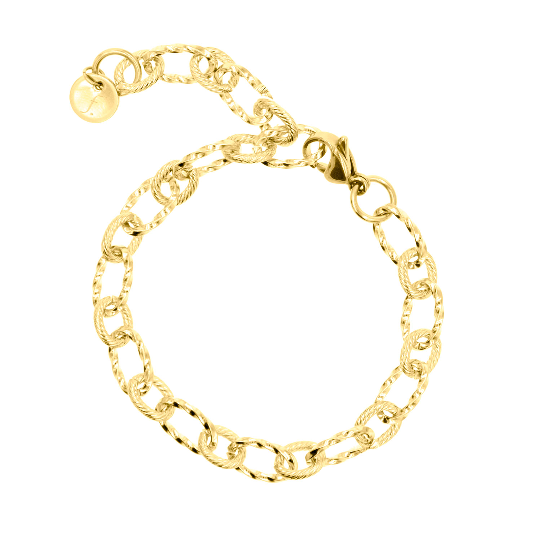 Grote schakelarmband van FINASTE in goud