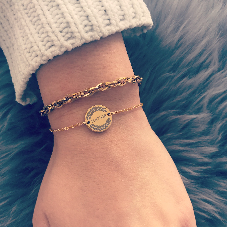 Gouden armbandjes combinatie van Finaste