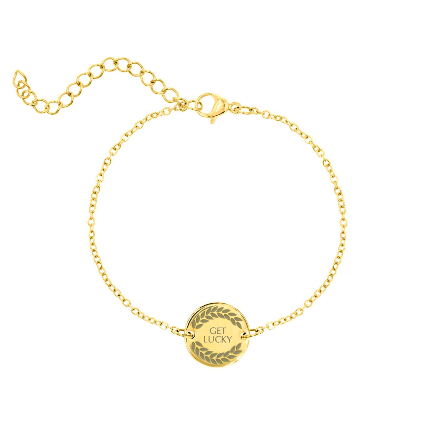Gouden armband met Get Lucky