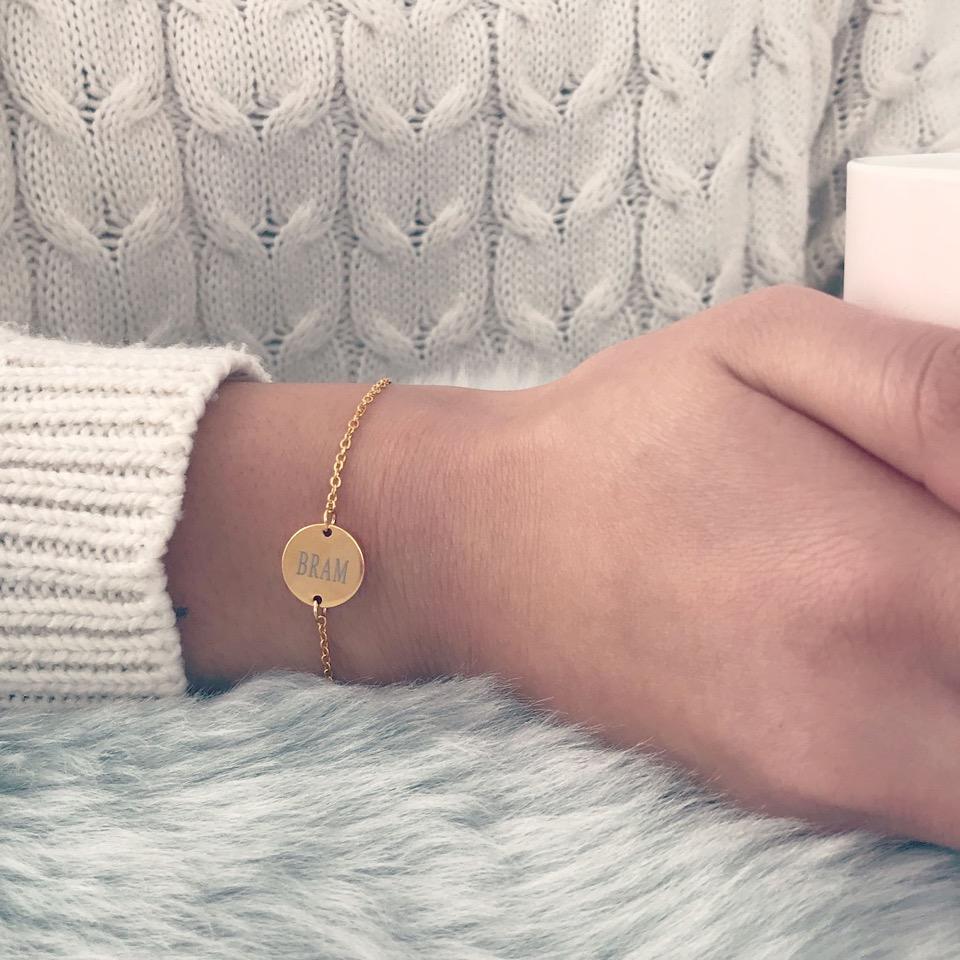 Gouden graveerbare armband met naam