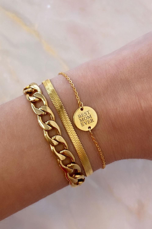 Graveerbare Armband Rond Goud Kleurig
