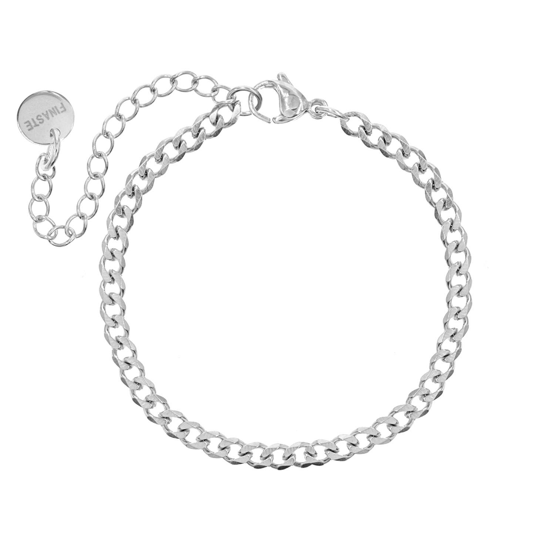 Zilveren schakelarmbandje subtiel