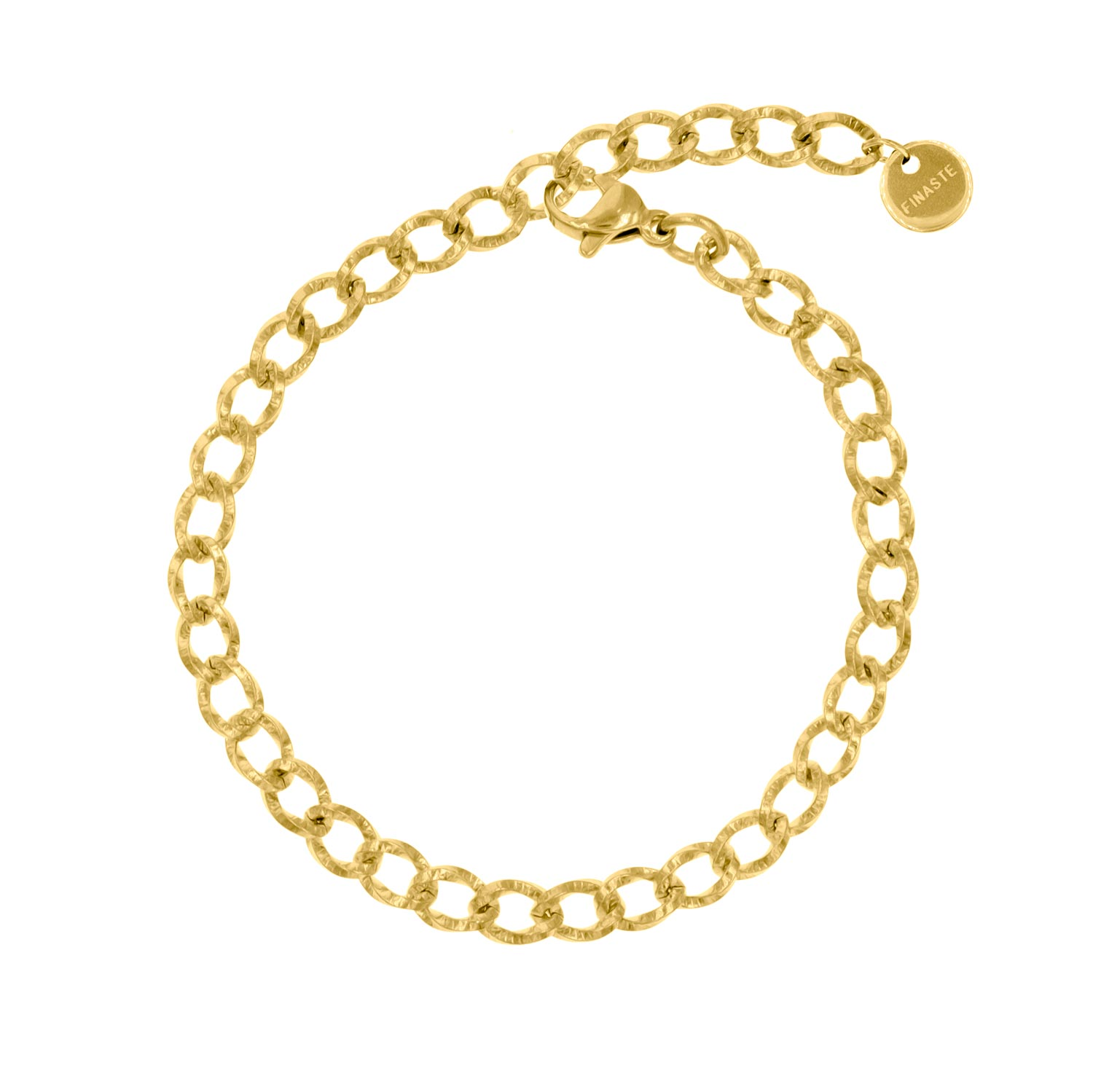 Gouden armband met chains