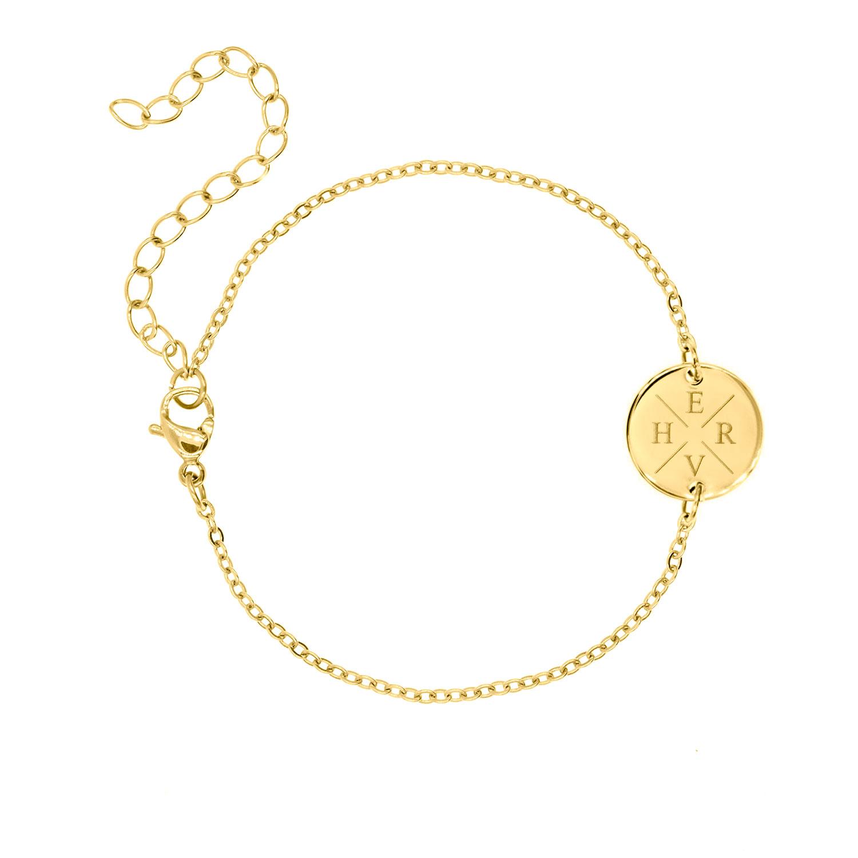 Armband Met Vier Initialen Goud