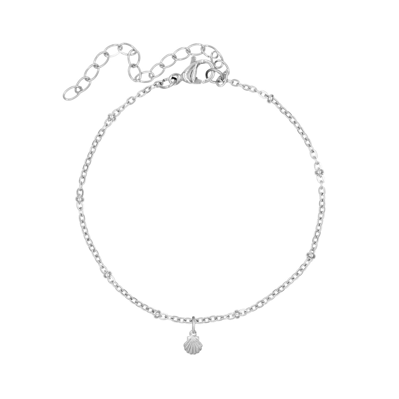 Armband met mini schelpje zilver