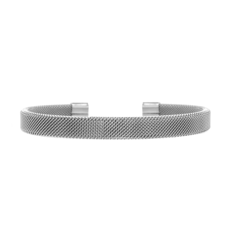 Zilveren mesh bangle