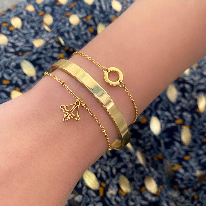 leuke gouden armbanden voor om de pols