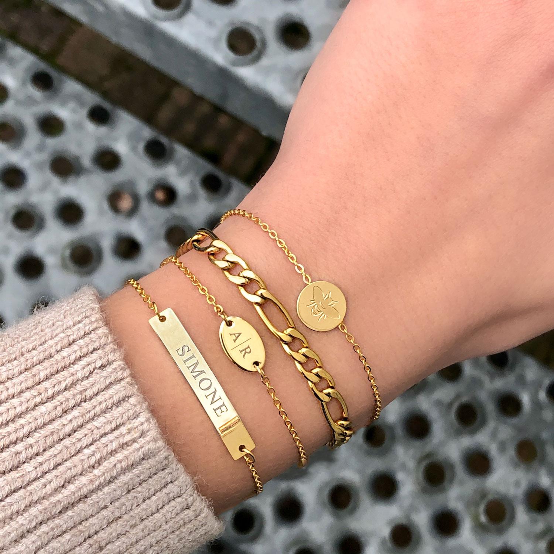 Gouden graveerbare armband met origami schorpioen armband