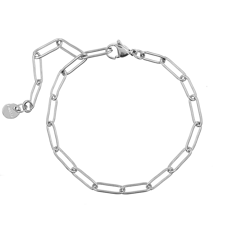 Schakelarmband Minimalistisch Zilver