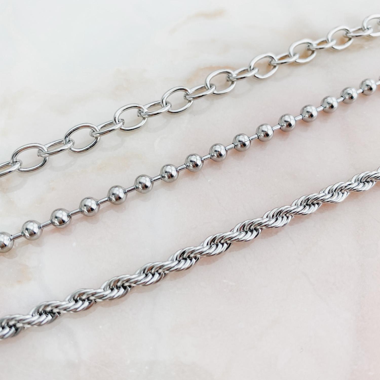 Trendy armbanden van stainless steel die niet kunnen verkleuren