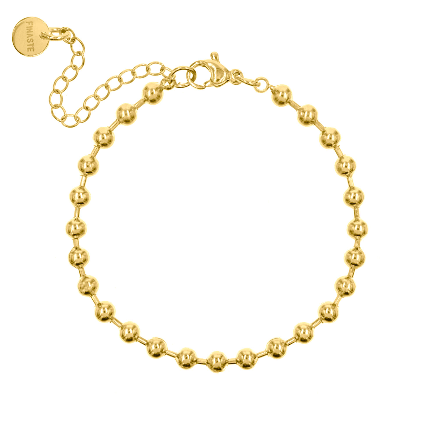 Schakelarmband Bolletjes Gold Plated